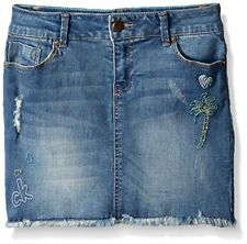 Calvin Klein Girls' Broderie Cut-Off Denim Skirt - Choose SZ/Color