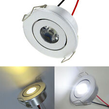1W/3W White/Warm LED Ceiling Down Light Recessed Cabinet lights AC12~24V/85~265V