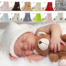 Soft Baby Blanket Newborn Kids Swaddle Wrap Child Bedding Blanket Coral Fleece