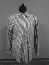 FACONNABLE Gray Blue Striped Casual Button Down Long Sleeve Shirt Size M CC2013