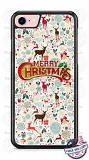 Merry Christmas Deer Pattern Phone Case for iPhone X 8 PLUS 8 7 Samsung LG etc