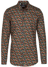 Dolce & Gabbana Men's 'GOLD' Tomato Print Button Down Dress Shirt