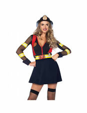 Sexy Firefighter Costume Red Hot Fire Captain Halloween Party Show Dance Costume