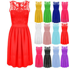 Fashion Womens Sleeveless Lace Formal Dress Ladies Evening Party Dress Plus Size