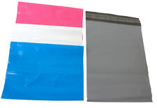 """Multi Colored Plastic Mailing Postal Packing Envelopes Gift Bags 10"""" x 14"""""""