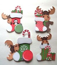 3D - U Pick - XM16 Moose Bunny Dragon Christmas  Card Scrapbook Embellishment