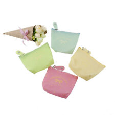 Cute Candy Color Bow Jelly Silicone Coin Purses Child Girl&student Women ChangeG