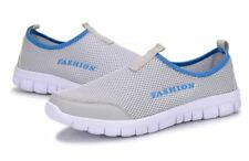 Women Light Grey Color Breathable Slip-on Flat Shoes Large Size
