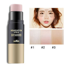 Face Makeup Foundation Powder Stick With Brush Concealer Creamy Highlighter