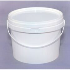 Plastic Buckets Tubs Containers with Lids Food grade WHITE 1000ML European 1 L