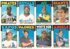 1986 Topps Traded Complete Team Set from Factory Set 20 Available XRC Rookie RC