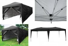 Black 10x20 Ft Canopy Tent Larga Pop Up Shelter Garage Car Storage Wedding Party