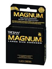 Trojan Magnum Large Size Lubricated Condoms - Choose Quantity
