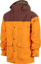 Mens BURTON Breach Insulated Snowboard Jacket Relaxed Fit GOLDEN OAK/CHESTNUT