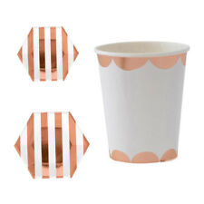 Paper Stripe Disposable Cups Napkins Plates Supplies Party High-end Tableware