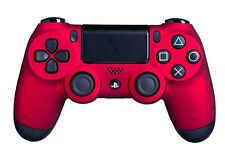 DualShock 4 Wireless Controller for PlayStation 4 Soft Touch Red PS4 Added Grip