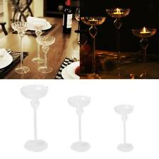 Glass Crystal Pillar Candle Holders Stick Home Wedding Party Dinner Table Decor