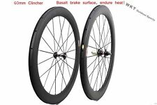 60mm clincher 25mm width carbon wheelset 700C road bicycle full carbon clincher