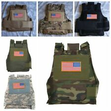US TACTICAL CS AIRSOFT PAINTBALL BODY ARMOR VEST WOODLAND CAMO HUNTING GAME VEST