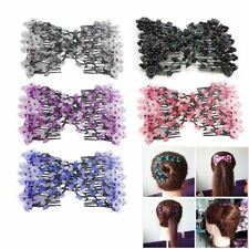 1pc Elasticity Double Hair Comb Stretchy Hair Comb Clip For Women
