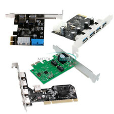 USB 2/3.0 2/4/5 Ports Panel PCI/PCI-E Express 4Pin&20Pin Controller Card Adapter