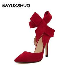 Butterfly Knot Pointed Toe Stiletto High Heel Wedding Shoes