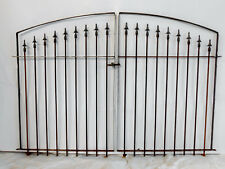 Center Divide Gate 6'w x 5't Wrought Iron Entry Gate