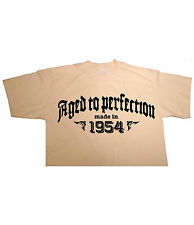 AGED TO PERFECTION Made in 1954, Birthday T-shirt gift funny present vintage fun