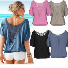Womens Ladies Sexy Loose Casual T Shirt Summer Short Sleeve Tops Blouses