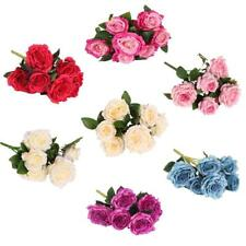 1 Bunch of Artificial Rose Flower Blossom Bouquet Home/Office/Party Decoration