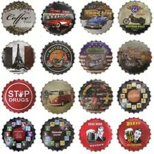 Round Metal Advertising Wall Sign Retro Art Tin Plaque Home Bar Wall Decoration