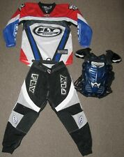 Kids Youth FLY motocross riding gear pants jersey shirt chest protector SZ 28 NR