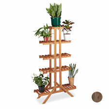 Tall Flower Stand, Wooden Plant Stairs, Flower Bench Rack, Plant Etagere Display