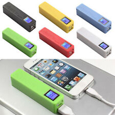 LCD Power Bank Backup External Battery Charger Box For Cell Phone 2600mAh