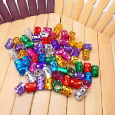 100Pcs Women Adjustable Dreadlock Beads Hair Braid Rings Cuff Clips Tube Mixed