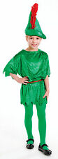 CHILD PETER PAN ROBIN HOOD BOOK WEEK COSTUME OUTFIT GIRLS BOYS ELF PIXIE 4-6-8