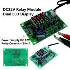 DC 12V -50 to 110℃ Thermostat Switch Dual LED Digit Relay Temperature Controller