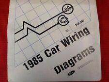 1985 FORD  LINCOLN  MERCURY WIRING DIAGRAMS FACTORY MANUAL  (FM1985C)
