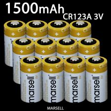 MARSELL CR123A CR123 CR17345 Lithium 3V 1500mAh Replacement Battery Torch Camera