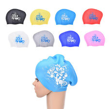 Women's swimming caps Silicone Long Hair Girls Waterproof Swimming Cap Ear Cup
