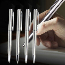 NEW Stainless Steel Ball Point Pen Ballpoint Silver Trim Stationery Office Pens