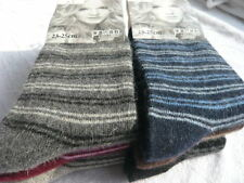 1Pair Women Vintage Casual Striped Thick Socks Winter Warm Wool Blend Long Socks