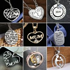 Letters Heart Crystal Necklace Pendant Gifts Mum Mother Mom Presents Jewellery
