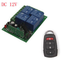12V 24V 4CH Relay Wireless Remote Control Switch ON/OFF Transmitter Receiver Kit