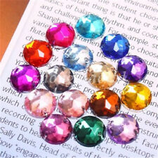 Mixed Assorted Colors Acrylic Flatback Round Rhinestones Sew On Beads 6-20mm New