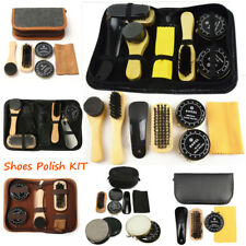 Deluxe Polish Shining Shoe Boot Care Leather Shine Cleaning Brushes Set Kit Tool