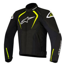 Alpinestars T-Jaws Black Fluo Yellow Waterproof Mens Motorcycle Textile Jacket
