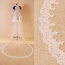 3M Cathedral Wedding Veils 2T White/Ivory Lace With Comb Bride Bridal Veil