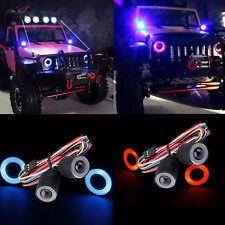 Headlight LED Lights for Jeep Wrangler Rubicon Body 1/10 RC Rock Crawler Axial
