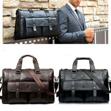 Class Italian Leather Briefcase Messenger Shoulder Bag Tote Travel Luggage Bag